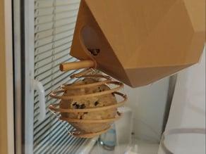 Bird feeder for fat balls.