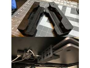 Dual laptop under-desk mount with felt sliders