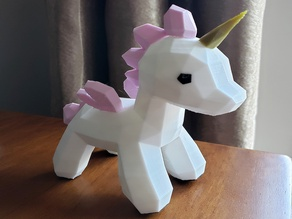 Unicorn Lowpoly design