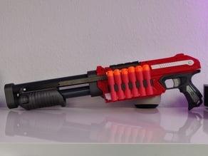Nerf Magnus Shotgun 32mm PVC Pipe adapter