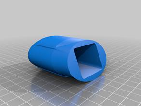 Aerodynamic end cap for square Thule bars