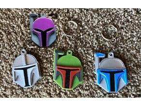 Mandalorian Helmet Keychains