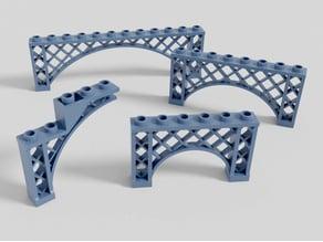 Lego-compatible cast iron architecture arches