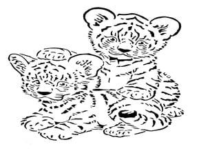 Tiger Cub stencil