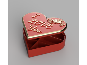 Heart Box V2 with internal dividers