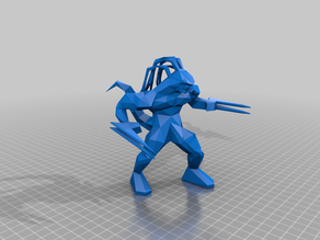 Unreal 1 Skaarj - Fixed for 3D Printing