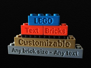 Customizable LEGO compatible Text Bricks