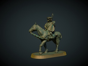 Mounted Bard 28mm (no supports needed)