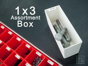 Assortment system box 1x3