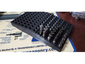 "120 piece 1/4"" screwdriver bit tray"