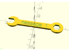 Customizable Wrench with Text on both sides