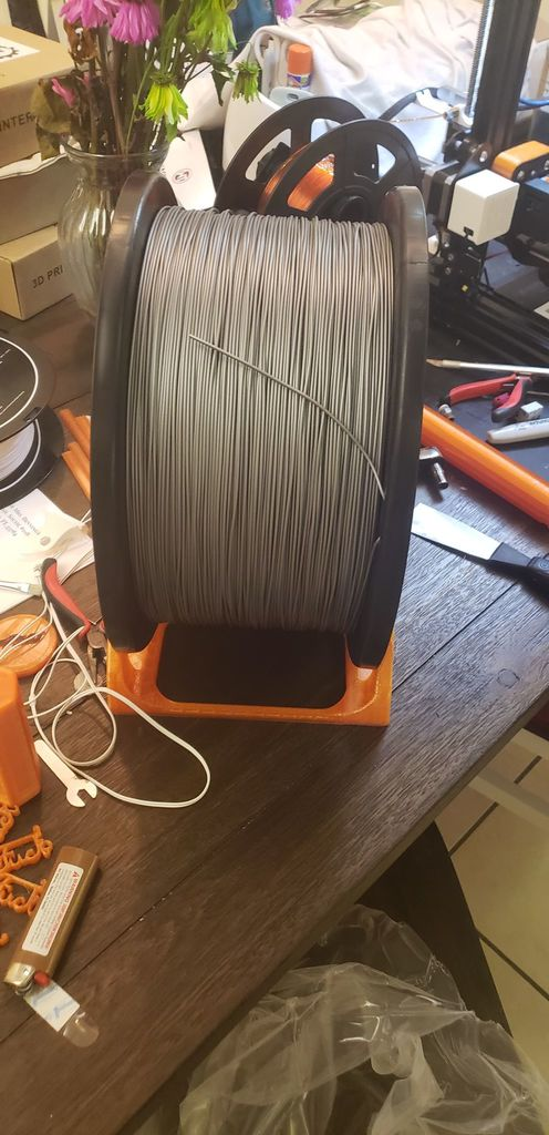 universal spool holder ( up to 5kg roll)