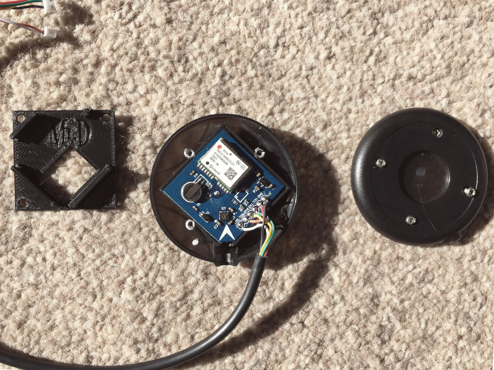M8N GPS Puck Flight Controller Stack Mount by DarrenLines
