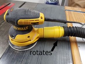 Rockler Flexiport swiveling hose adapter for DWE6423 DeWalt random orbital sander
