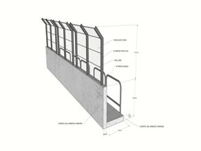 Pitlane fence - 1/10 RC
