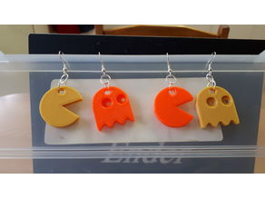 Pacman and Ghost earrings