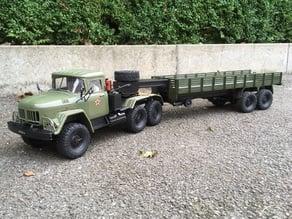 WPL ZIL-137 V8 10x10 semi truck, based on semeivan's ZIL-131 cabin