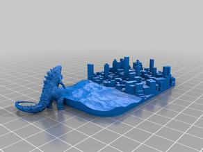 Godzilla Playset (for Altoid Tin)