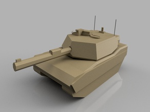 Desktop Tank - M1A1 Tank - prints without support