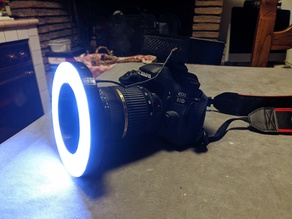 LED Flash Ring diffuser for macro photography - Reflex Canon EOS - 67mm diameter