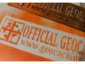 """Official Geocache"" stencil - mark your stash"