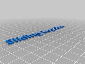 Sliding Legolini 3D text for Bow Slider