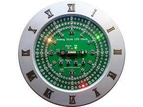 Analog-Style LED Clock Frame and Numbers