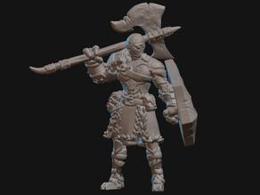 Warforged Barbarian Miniature