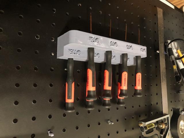 pegboard torx scerwdriver holder