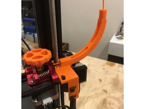 Ender 3 Low Friction Filament Guide with Cable Guide