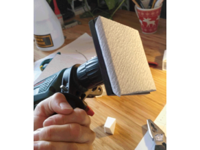 Don't have a sanding machine? Just use these sanding plates with your common drill.