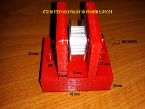 GT2 20 TEETH IDLE PULLEY SUPPORT