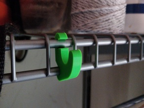 simple hook for wire shelving.