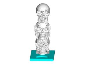 3 Wise Skulls Tealight Candle Holder