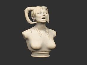 Succubus Bust Statue