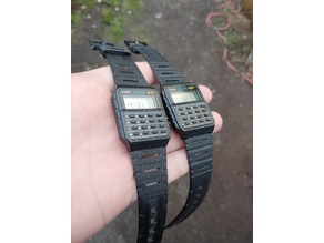 Flexible Watch Band Straps with Tang Buckle for Casio or Similar