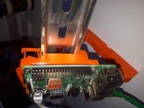 Din-Rail Mount for Raspberry Pi 3B+ Portrait