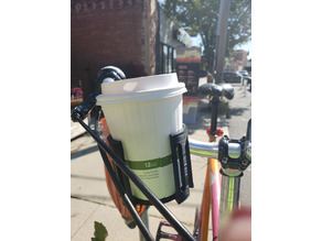 Handlebar mounted Coffee, Can, and Cup Holder with Orientation Plate