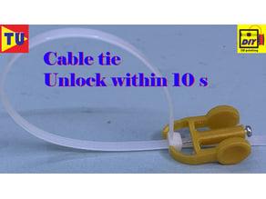 Cable tie unlock