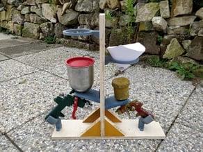 Paint Spray Gun Holder Stand - DIY kit