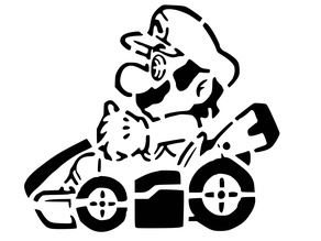 Mario Kart 2 stencil