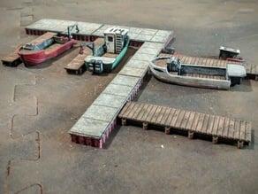 Concrete and wood docks, modular 1/100