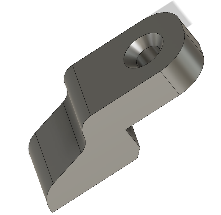 MINI BRACKET 4mm Lower // MINI EQUERRE  - 4 mm