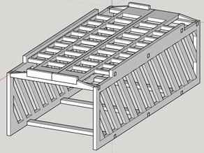 Creality CR10S Control Box Stand (drawer/storage ready)