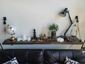 Block and Tackle Hardware for Wall Shelf