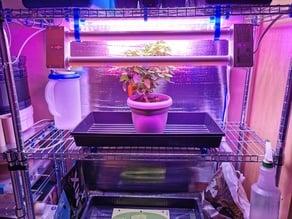 Grow Light Support for IKEA OMAR Shelves