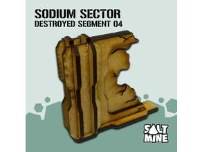 Sodium Sector - DestroyedWall 02 (3mm - mdf - lasercut)