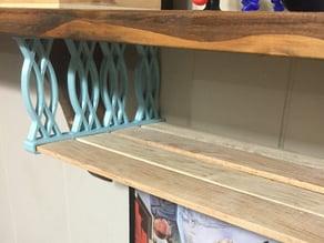 Hanging lattice strip shelf