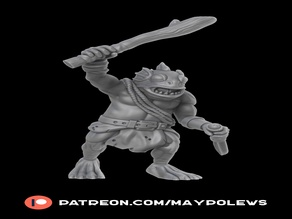 Kuo-Toa Whip (28mm DnD miniature)