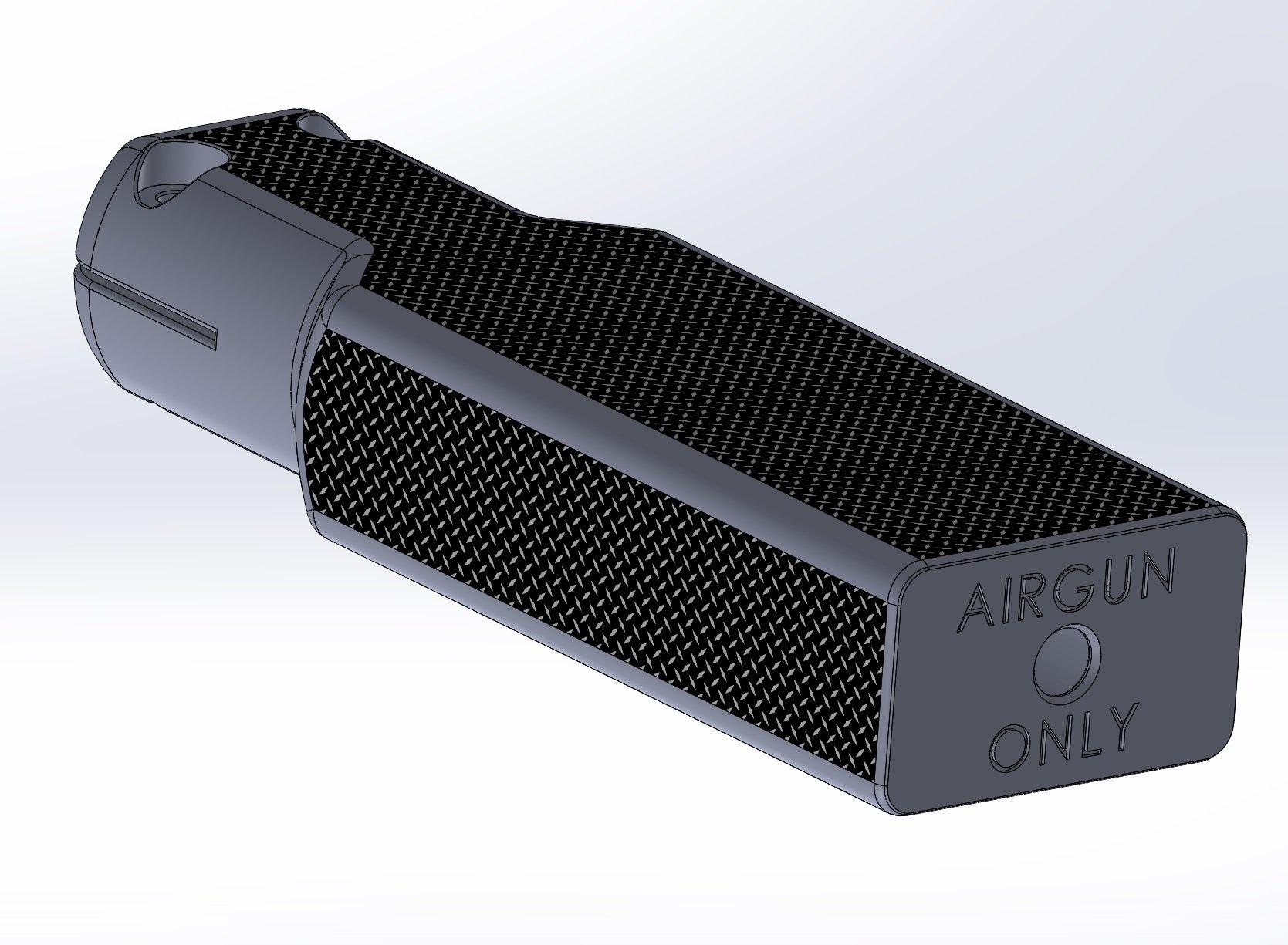 Crosman 2240 Airgun Suppressor / Silencer - Rectangular